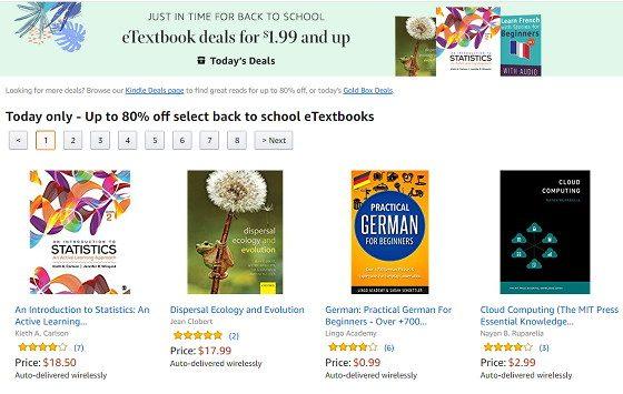 Kindle eTextbook Deals