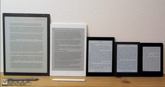 eReader Screen Size Comparison