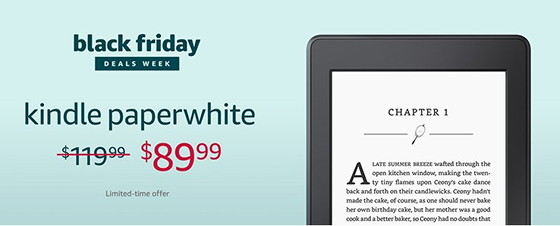 Kindle ereader black friday deals 2018