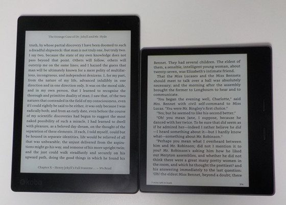 kindle oasis 2 vs kobo aura one comparison review video