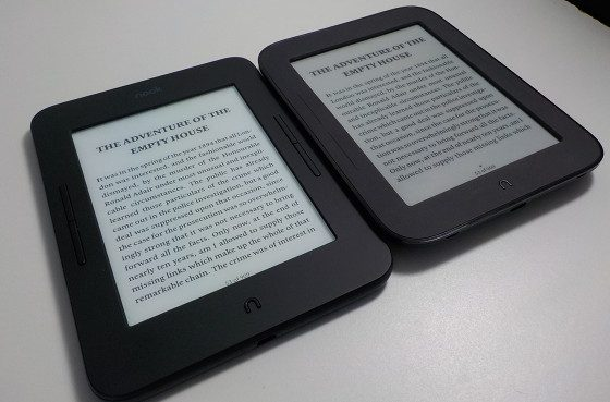 Nook Glowlight 3 vs Nook Touch