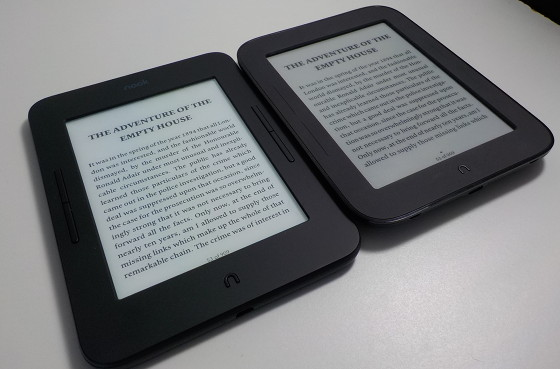New nook glowlight 3 reminiscent of original nook touch the nook glowlight 3 vs nook touch fandeluxe Choice Image