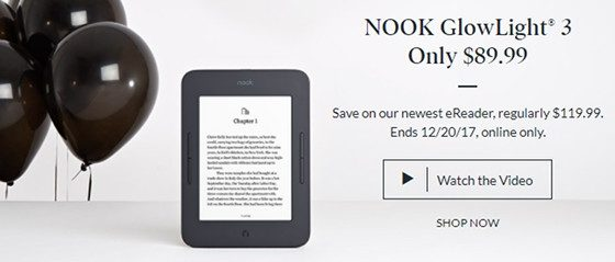 Nook Glowlight 3 Sale