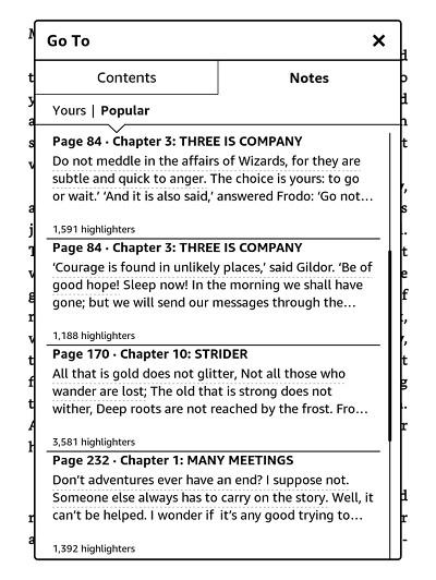 Kindle Popular Highlights