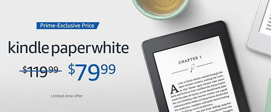 Kindle Paperwhite Prime Deal