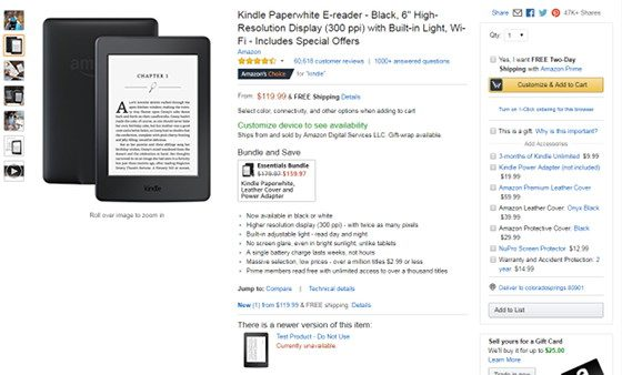 New Kindle Paperwhite Mystery