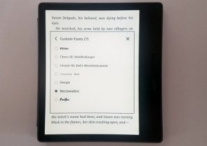 Kindle Custom Fonts