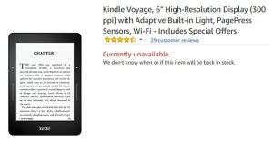 Kindle Voyage Unavailable