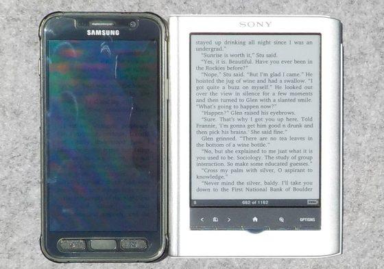 Galaxy S7 vs Sony PRS-350
