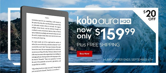 Discounts on Kobo eBook Readers at Walmart and Kobo | The