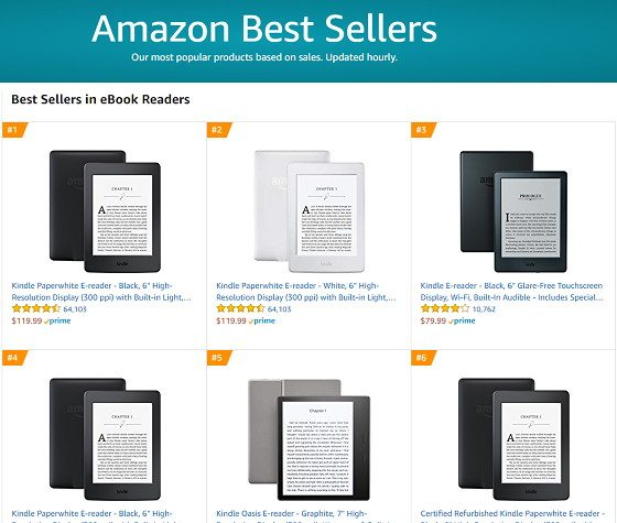 Best Selling eBook Readers