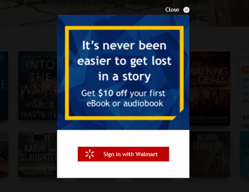 Get $10 Off an eBook or Audiobook at Walmart, Includes Best
