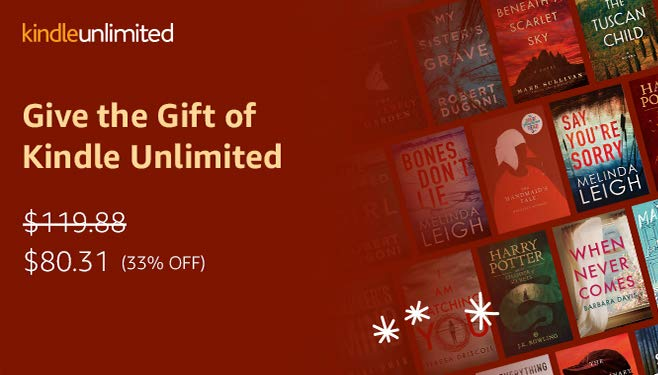 Kindle Unlimited eBook Subscription 33% off for 12 Months | The