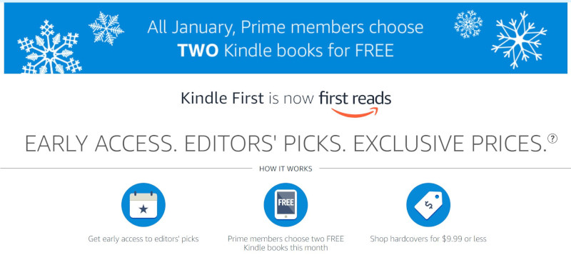 Prime Members Get Two Free Kindle eBooks in January | The eBook