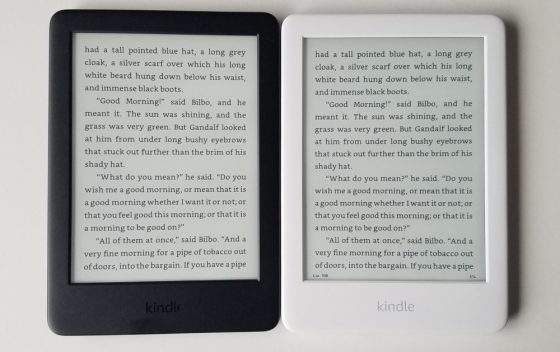 2019 Kindle White vs Black