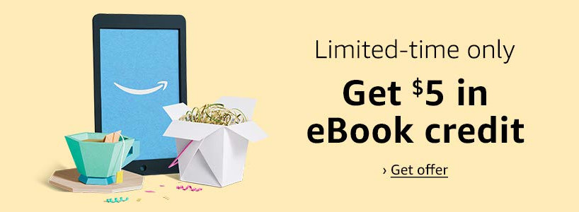 Prime Members: Get $5 eBook Credit When Spending $20 on