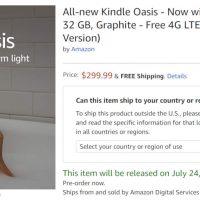 Kindle Oasis 4g LTE