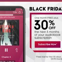 Kobo Black Friday Audiobooks Deal
