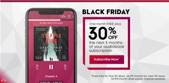 Kobo Black Friday Audiobooks Deal
