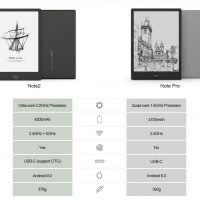 Onyx Note Pro vs Note2