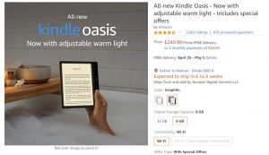 Kindle Oasis Stock