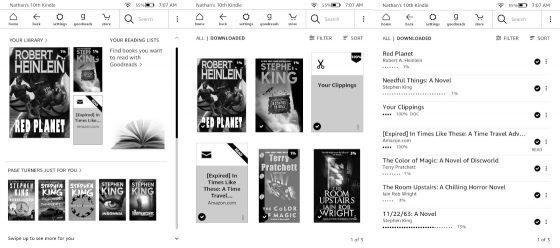 Kindle Homescreens