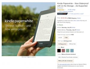 Kindles Ad Supported