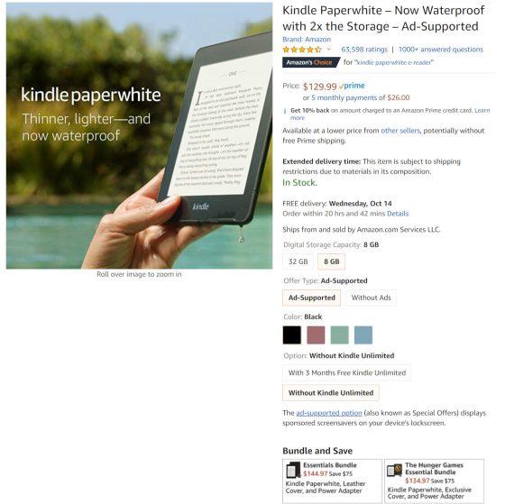 50 Kindle Choices