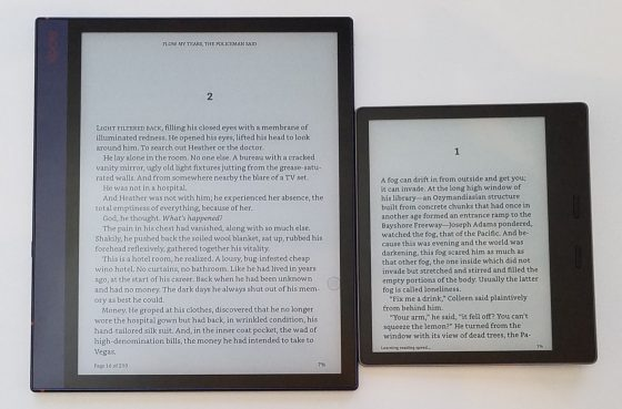 Note Air vs Kindle Oasis