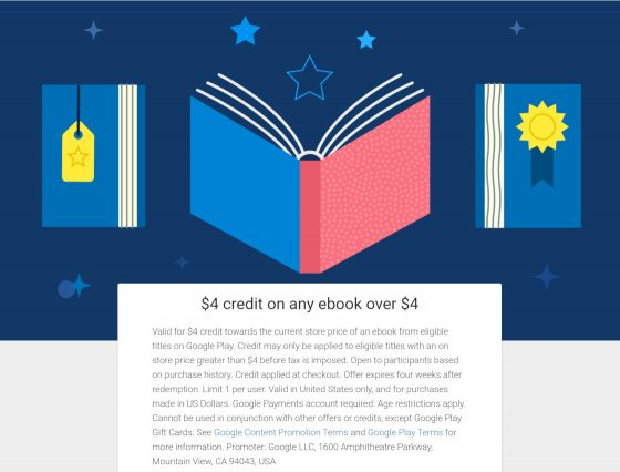 Google eBooks Credit