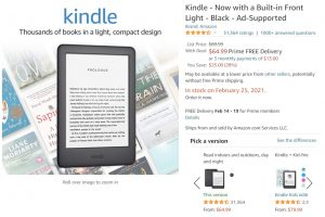Kindle Backordered
