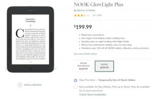 Nooks Out of Stock