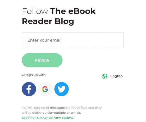 Subscribe The eBook Reader Blog